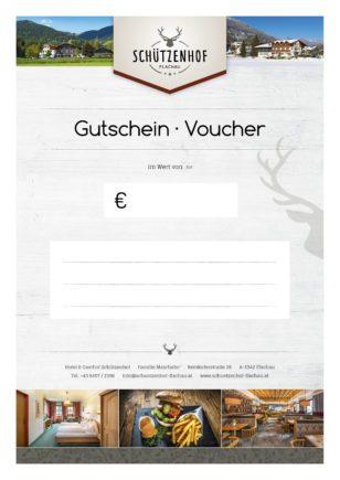 Gutschein - Gutscheinbestellung - Hotel & Gasthof Schützenhof in Flachau, Reitdorf